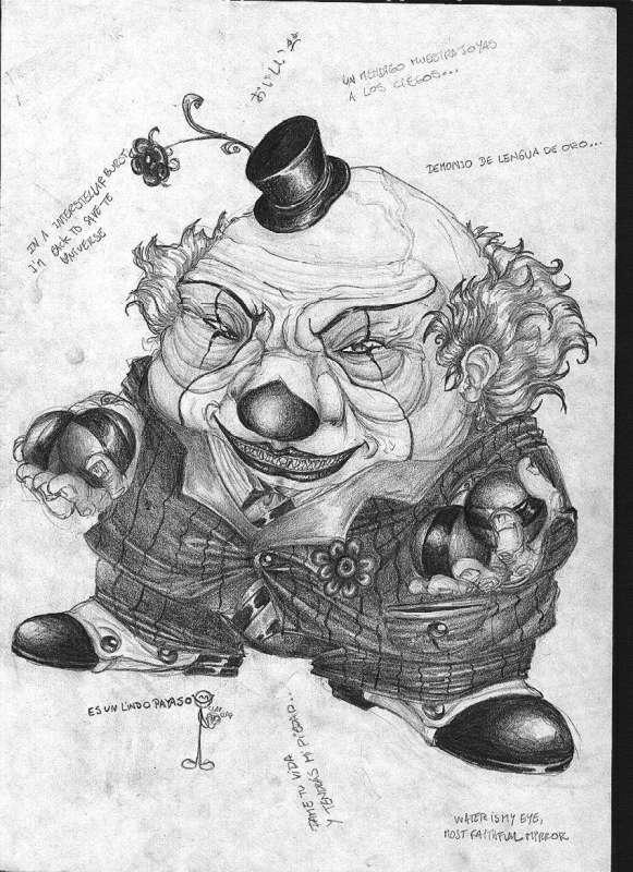 Dibujos de payasos asesinos a lapiz - Imagui