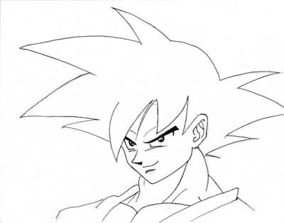 http://www.dibujando.net - tutoriales - Goku de DBZ